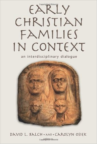 Early Christian Families In Context book cover