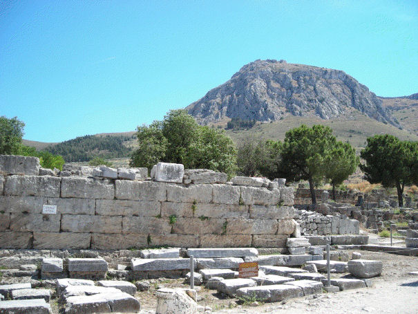 Ruins of a Roman Law Court in Corinth