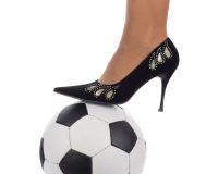 Women's Shoe and Soccer Ball