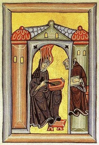 Hildegard and her scribe