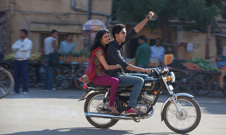 "L-R: Tena Desae and Dev Patel in ""The Best Exotic Marigold Hotel"""