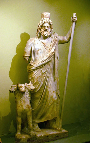 Depiction of Hades, god of the underworld in Greek mythology (Heraklion Archeological Museum)