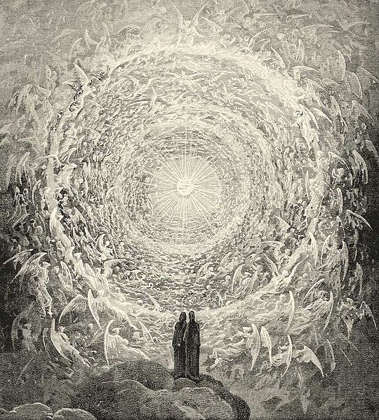 Rosa Celeste: Dante and Beatrice gaze upon the highest Heaven, The Empyrean