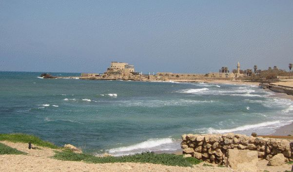 Some of the remains of the city of Caesarea, headquarters of the Roman governor in Palestine. Paul was imprisoned here for two years before being sent to Rome. (Photo by Reta Halteman Finger)