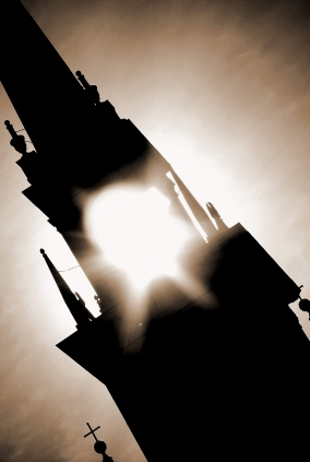 Steeple with Light