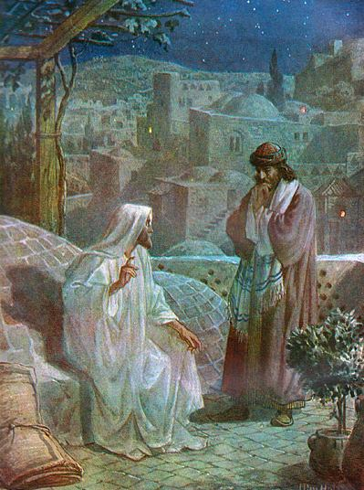 """Jesus and Nicodemus"" by William Brassey Hole"