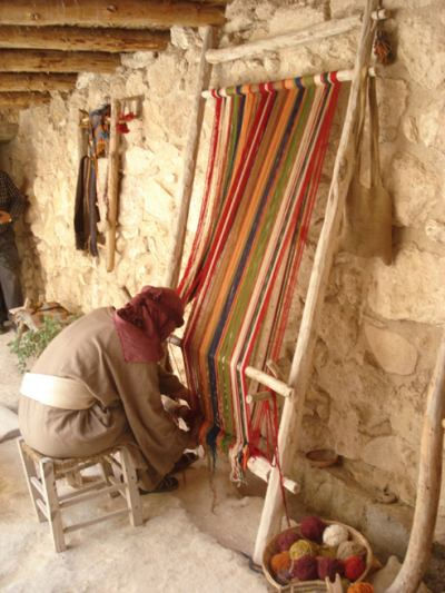 Woman Weaving in Palestine