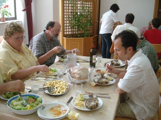 A Meal at the Church Guesthouse