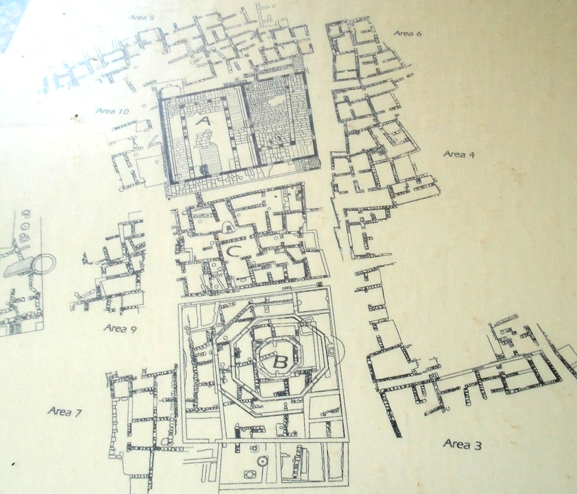 Map of ancient Capernaum