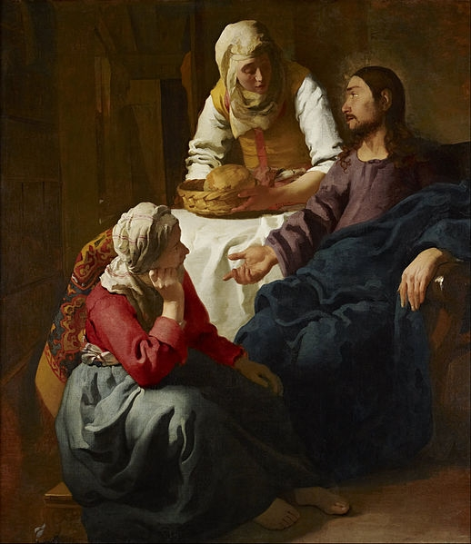 "Christ in the House of Martha and Mary,"" by Johannes Vermeer"