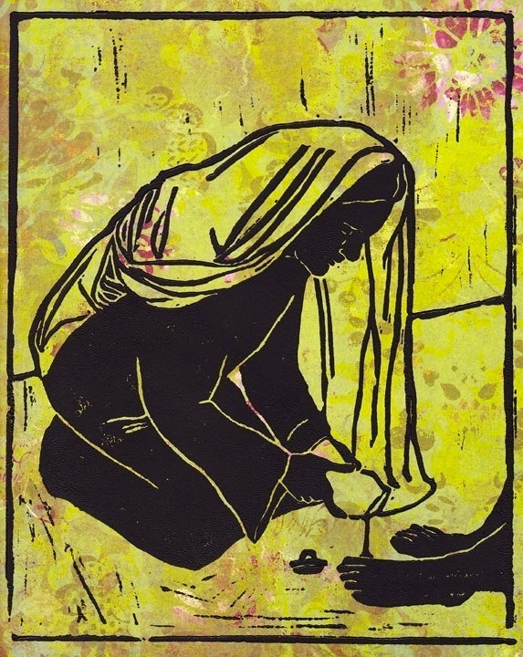 Mary of Bethany, Print by Yvette Rock