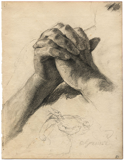 """Praying Hands"" by Otto Greiner"