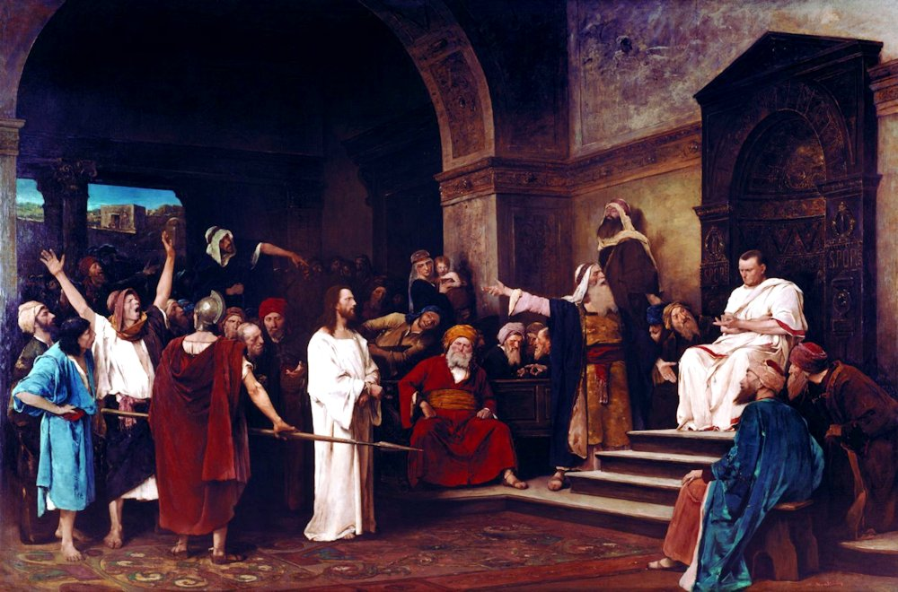 """Christ before Pilate"" by Mihály Munkácsy, 1881"