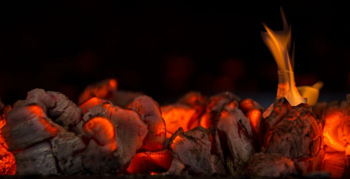 Coals with Flame