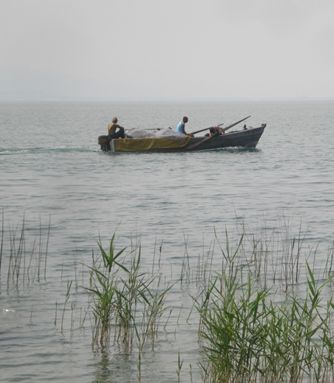 Fishermen in the Sea of Galilee