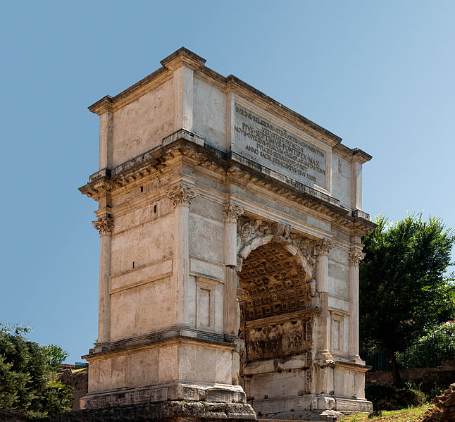 Arch Of Titus - Digital Image by Jebulon