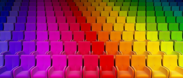 rainbow auditorium seats