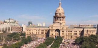 Photoof a portion of the crowd at the Women's March in Austin, Texas