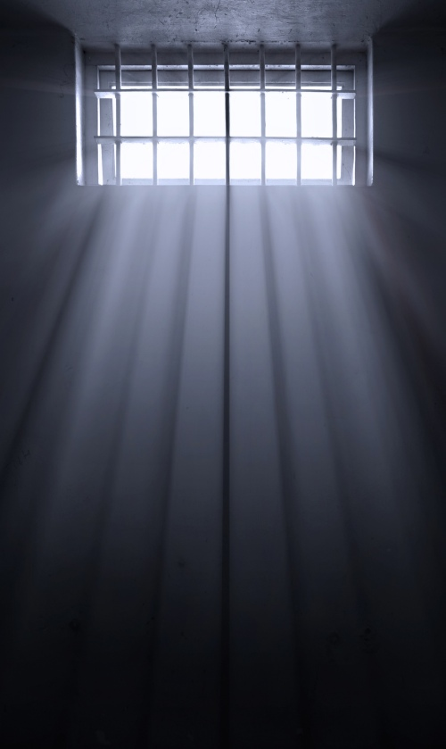 Light through prison bars