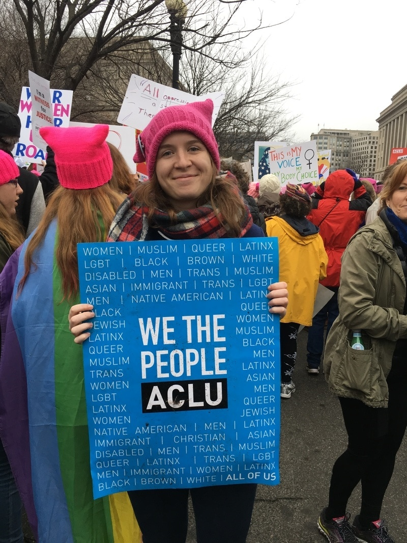 McKenzie Brown at the 2017 Women's March