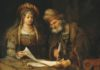 """Esther Talking to Mordecai"" By Aert de Gelder - Google Art Project, Public Domain, from Wikipedia"