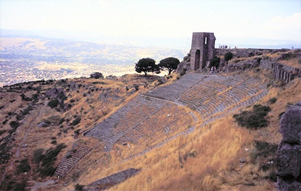 Ruins of Stadium Near the Acropolis at Pergamum. Photo by Reta Finger