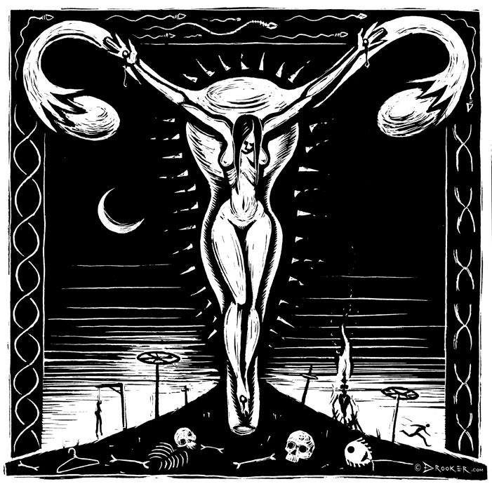 """Crucifixion"" by Eric Drooker"