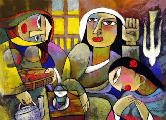 mary and martha painting by he qi copyright 2014 christian