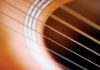 Extreme close-up of guitar