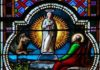 Revelation 12:1-17 in stained glass