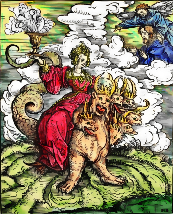 Whore of Babylon by Hans Burgkmair the Elder