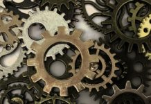 Global Leadership Summit article illustration -- Cog in the machine -- Image by dawnydawny -- CC0 License -- from Pixabay