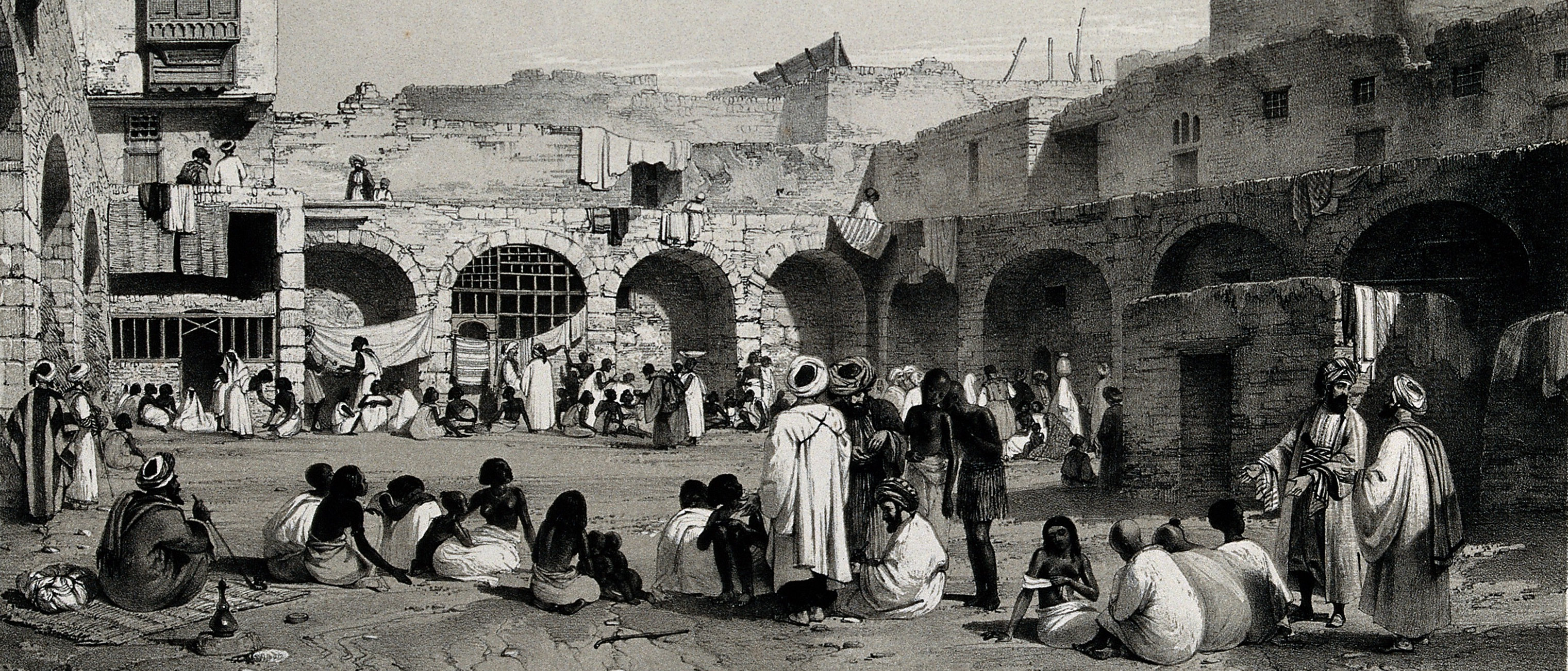 The_slave_market_in_Cairo._Wellcome_V0050649 (detail)