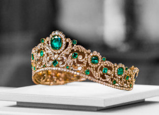 King Crown jewels in Louvre, Paris, France