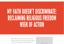 My Faith Doesnt Discriminate Campaign