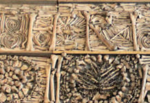Detail of a photo of the carefully arranged bones in the Golden Chamber of the Basilica of St. Ursula in Cologne, Germany