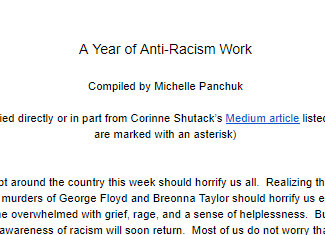 A Year of Anti-Racism Work