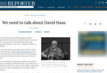 NCR Article on David Haas Screenshot