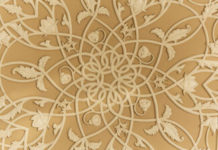 Decorative Pattern Inside Sheikh Zayed Mosque