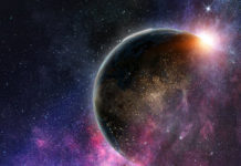 Outer space image to illustrate the poem Groundless