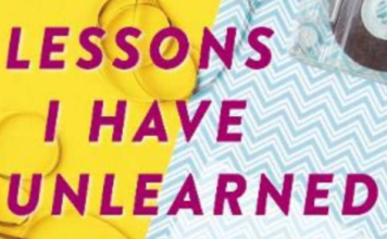 Lessons I Have Unlearned, Book Cover
